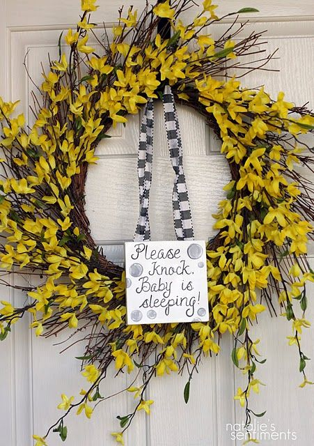 love natalie's blog and especially love this sign for the front door