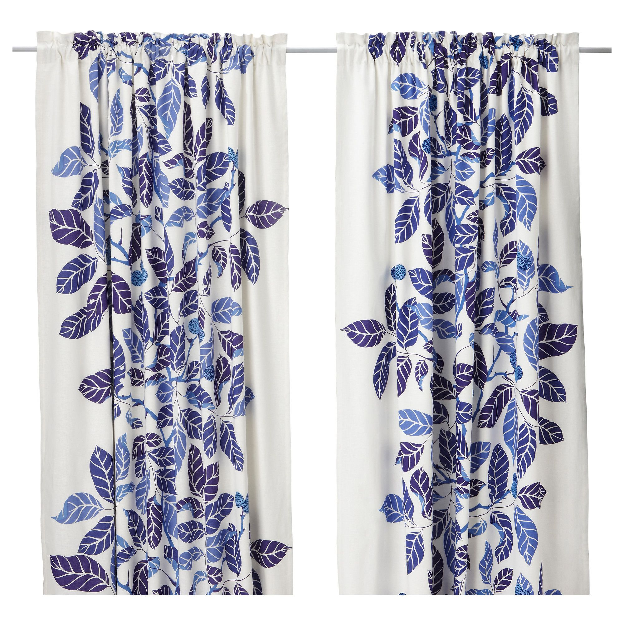 IKEA STOCKHOLM BLAD Par de cortinas - azul - IKEA | Furniutre ...