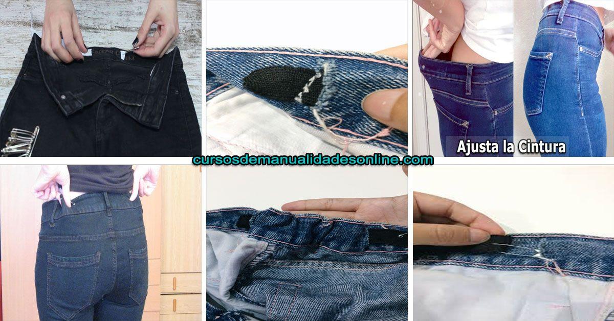 Aprende Como Reducir La Cintura De Un Pantalón Como Reducir Cintura Como Hacer Vestidos Hacer Vestido