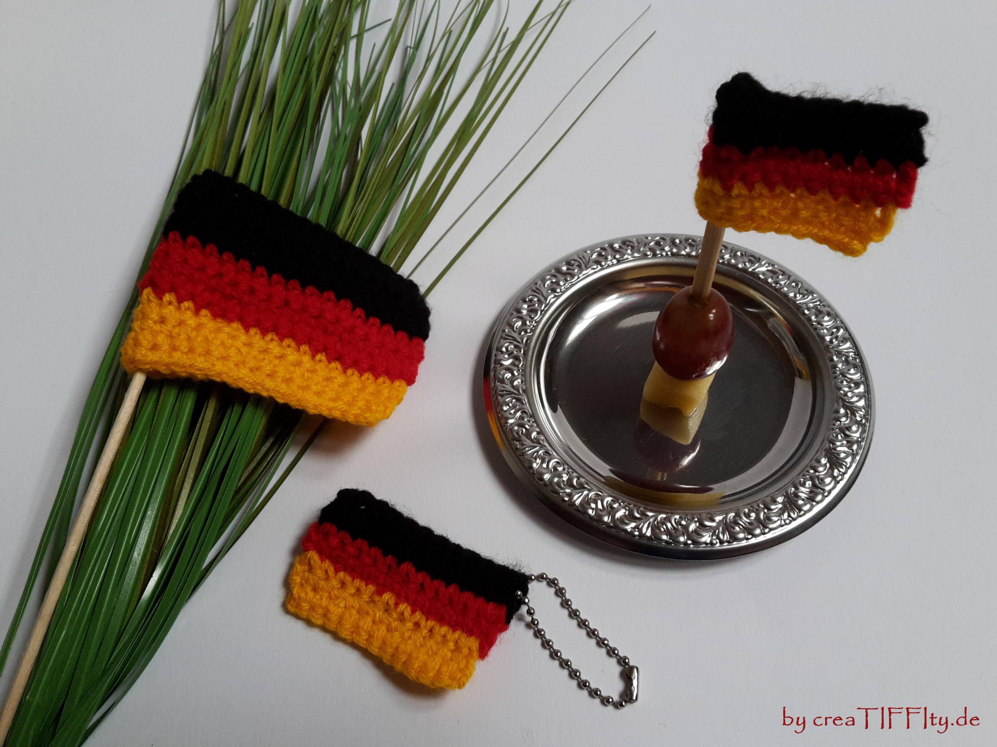 Fußball Fan – Set Deutschland. FreeBook von creaTIFFIty.de #Häkeln #Häkelanleitung #DIY #creaTIFFIty #Makerist #MyBoshi