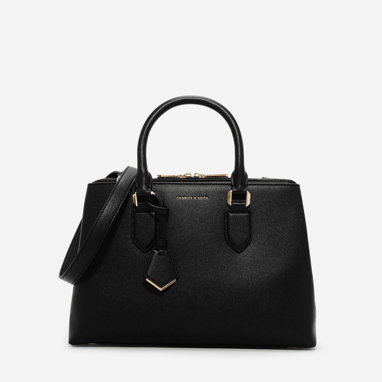 CHARLES   KEITH Black Basic Large Handbag  dd0fec4ad