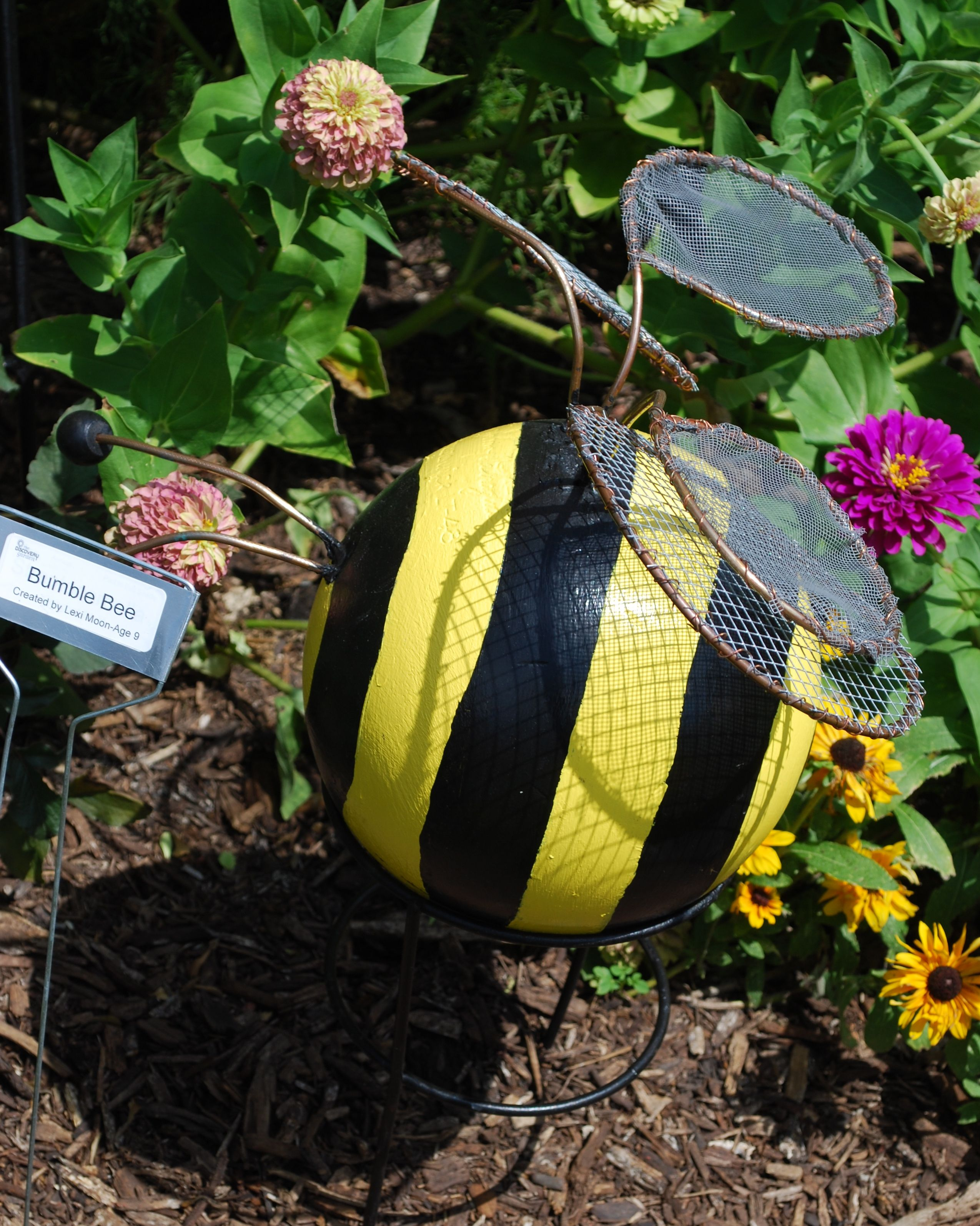 Roses In Garden: Bowling Ball Bumble Bee As Seen In The Master Gardener