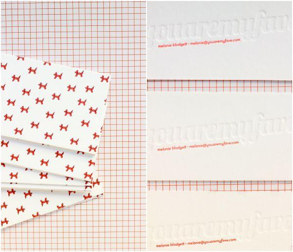 letterpressed balloon dogs