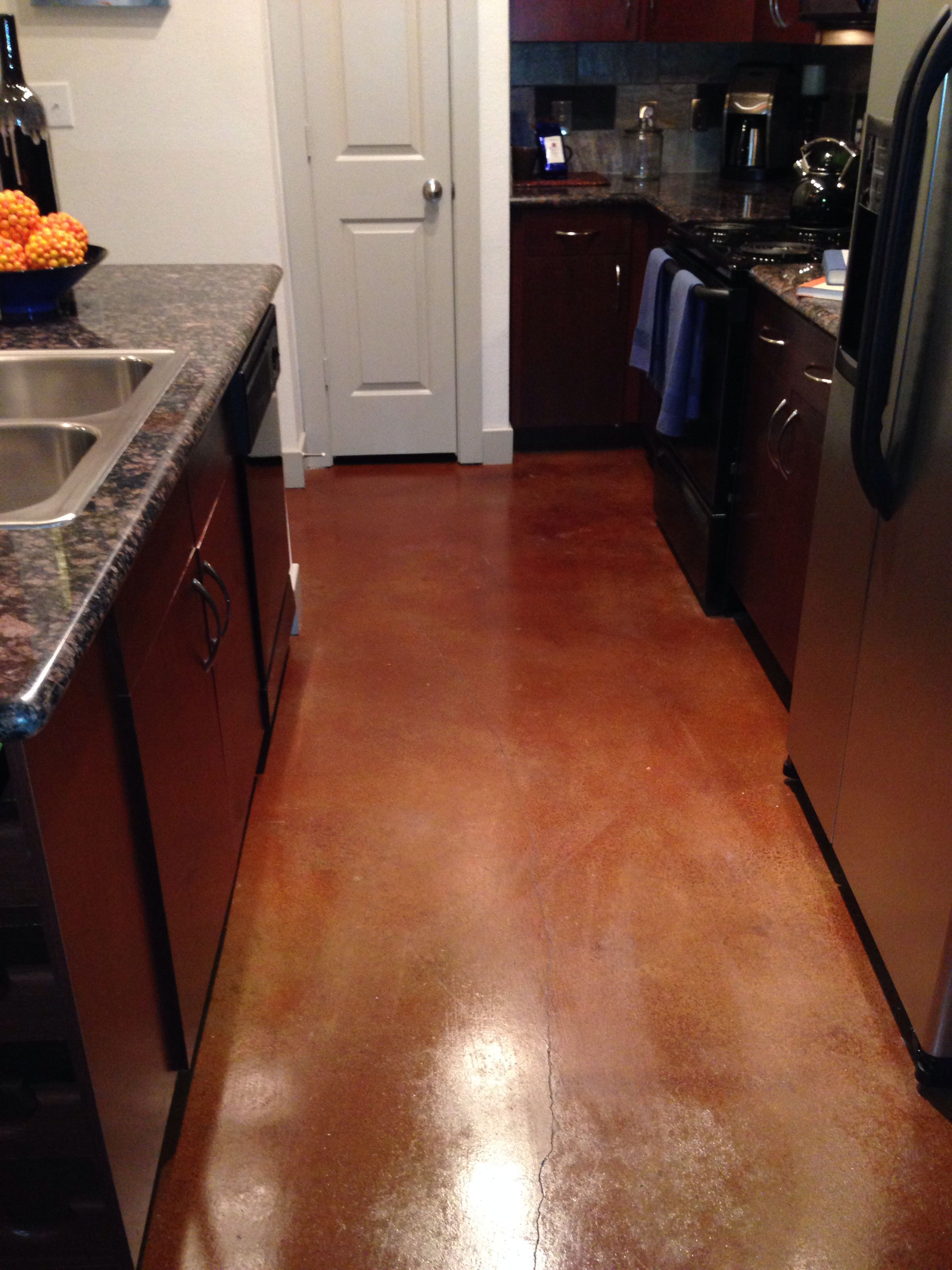 Stained Concrete Floors Terra Cotta Stained Concrete