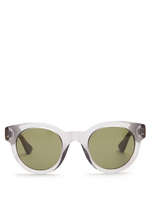 78fd938f631d3 GUCCI Round-Frame Bi-Colour Acetate Sunglasses.  gucci  sunglasses ...