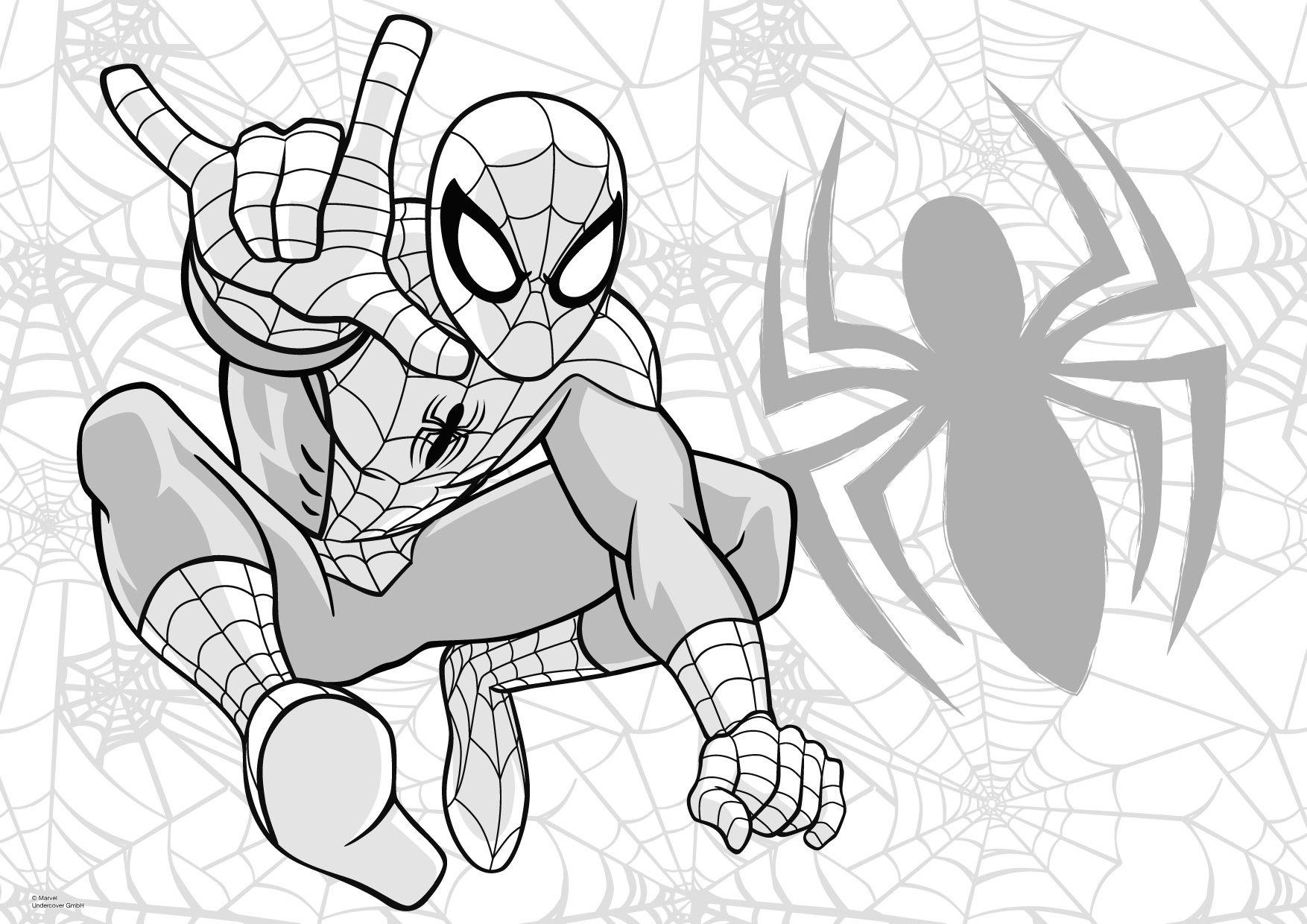 Malvorlagen Ausmalbilder Spiderman: Spiderman Malvorlagen 06