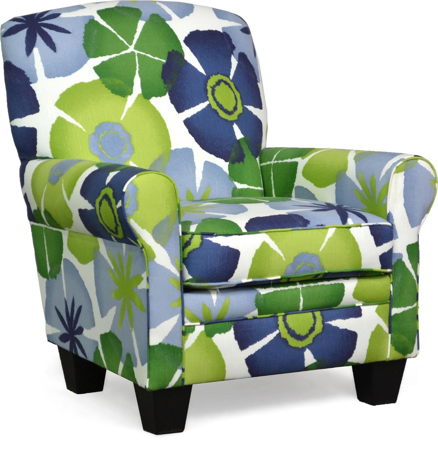 Quinn Accent Chair In Pure Petals Leaf Transitional Style Round Arms Tight Back Cushion Removab Accent Chairs Ashley Furniture Chairs Upholstered Chairs
