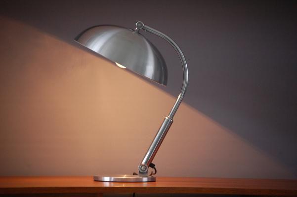 H Th J A Busquet For Hala Zeist Desk Lamp Mod No 144 Chromed