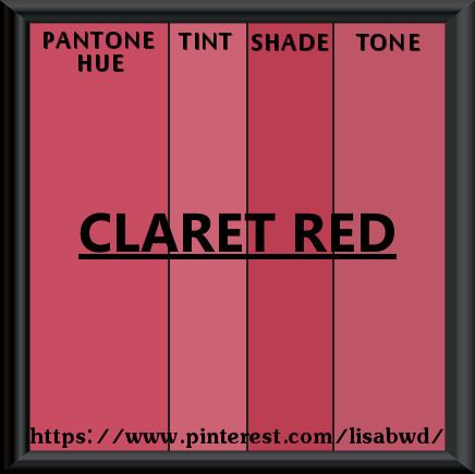 PANTONE SEASONAL COLOR SWATCH CLARET RED