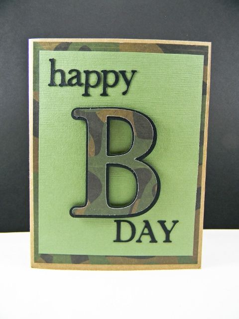 Camo Birthday Card But I Will Have To Do This In Max 4 Camo And Red