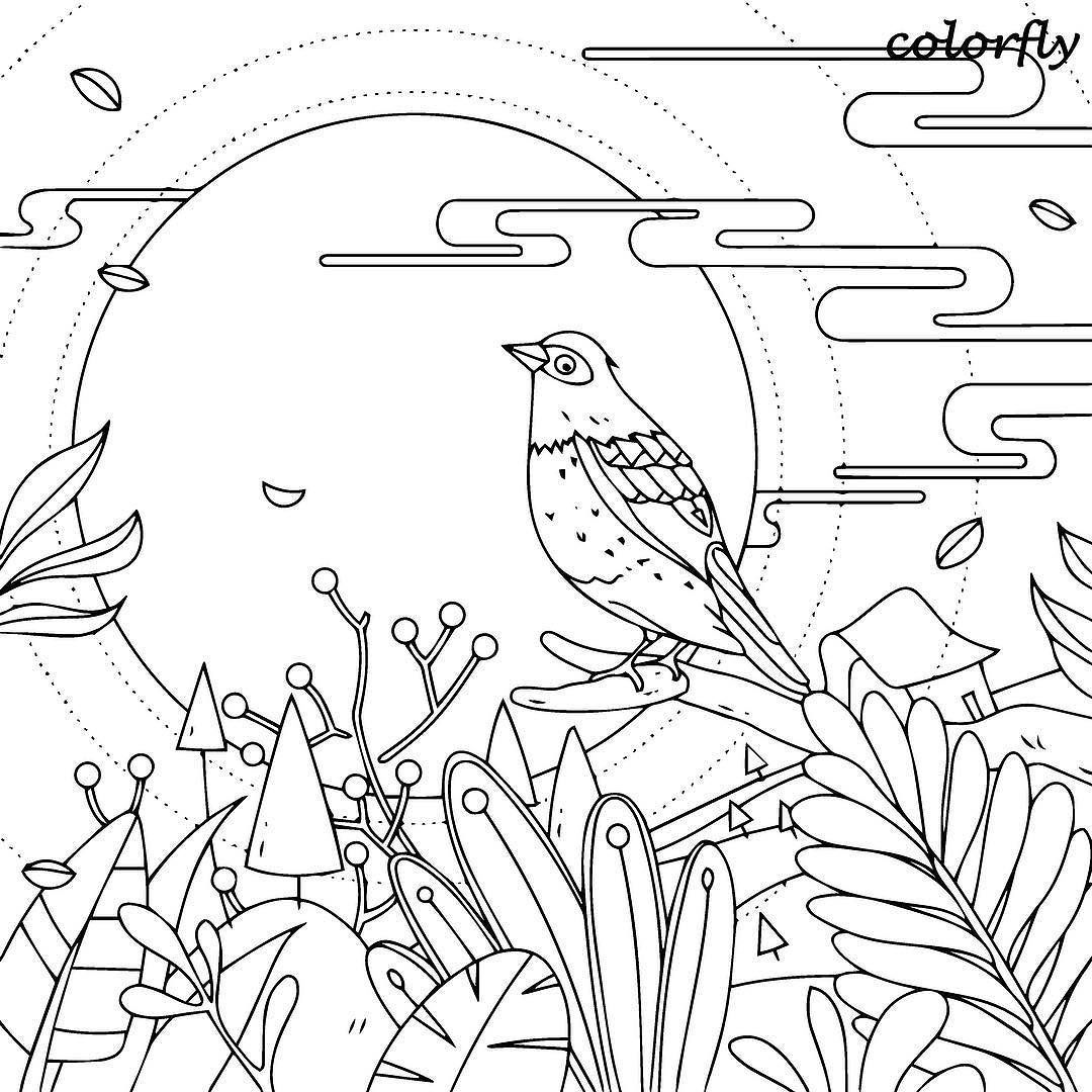 ColorFly Freebie Enjoy This Peaceful Scenery With Your Coloring Skills You Now Can Download And Print The Picture To Color On Free Time