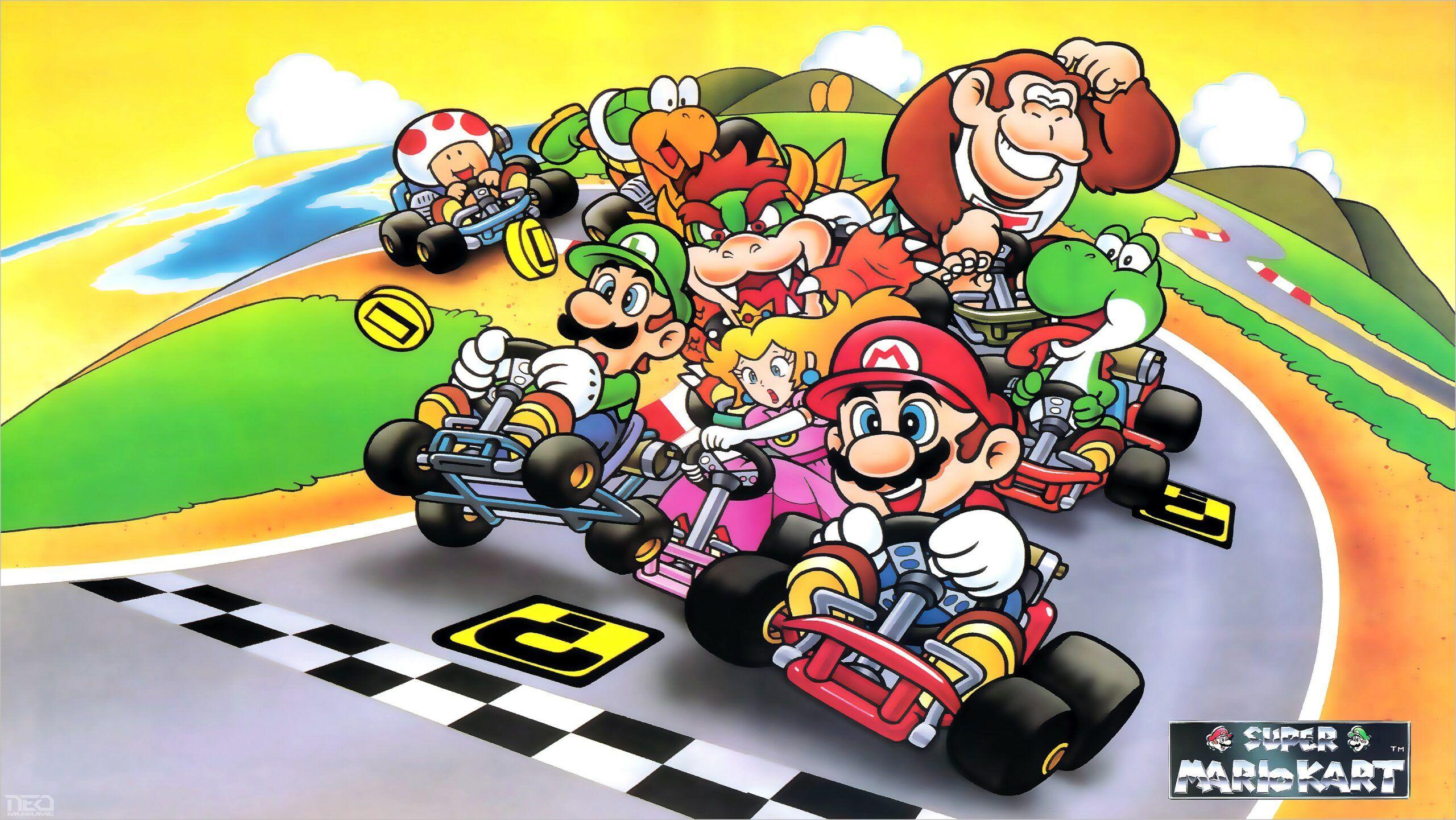 Best 4k Snes Wallpaper Mario Kart Super Mario Mario