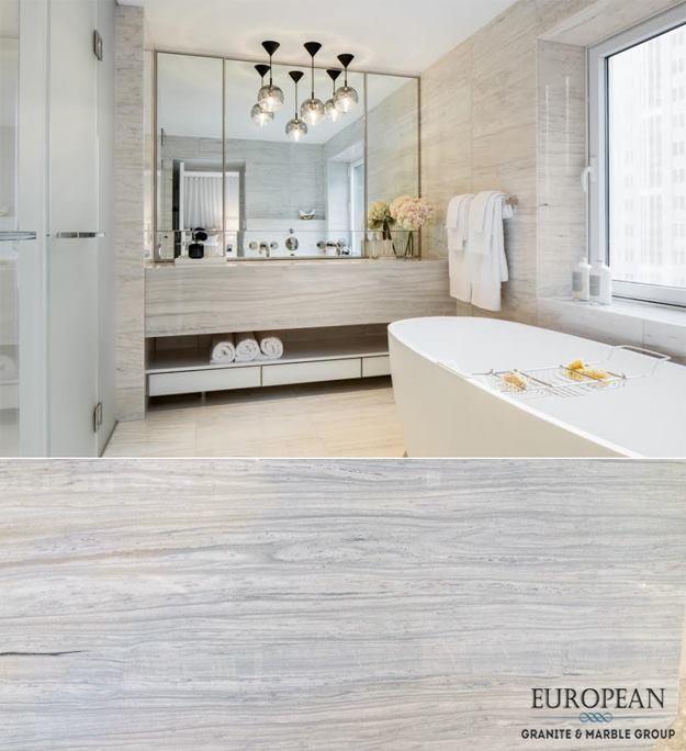 This Beautifully Bright Bathroom Design Features Marble