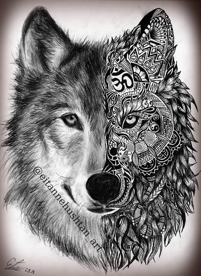 c725f550d Eitan Nehushtan- Art Wolf Tattoos Men, Tattoos Lobo, Head Tattoos, Tatuajes  Tattoos