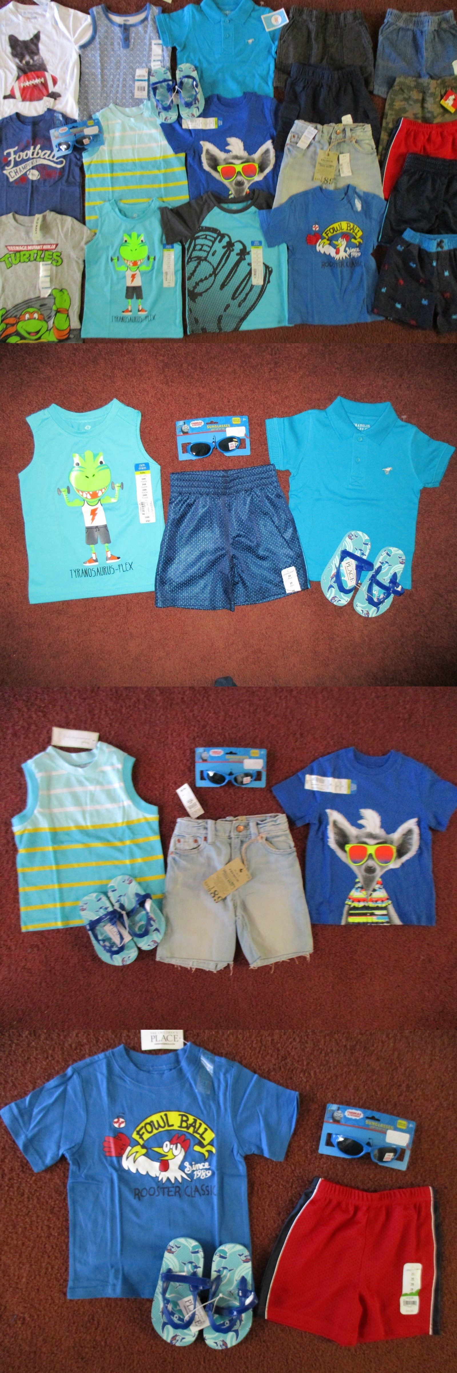 Mixed Items and Lots Nwt S Boys Size 2T Summer Lot