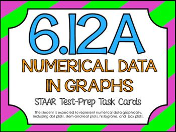 6.12A: Numerical Data in Graphs STAAR Test-Prep Task Cards ...