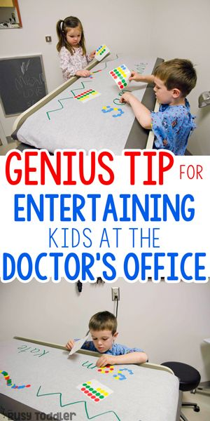 PARENTING HACK: Make the doctor's office easier with kids!