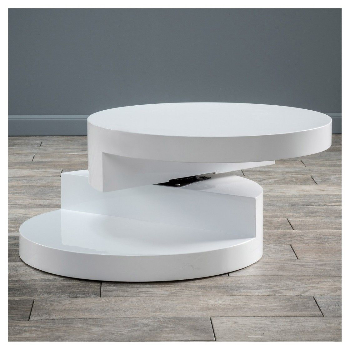Osto Small Oval Rotatable Coffee Table Glossy White Christopher Knight Home Circular Coffee Table Coffee Table Coffee Table With Storage [ 1120 x 1120 Pixel ]