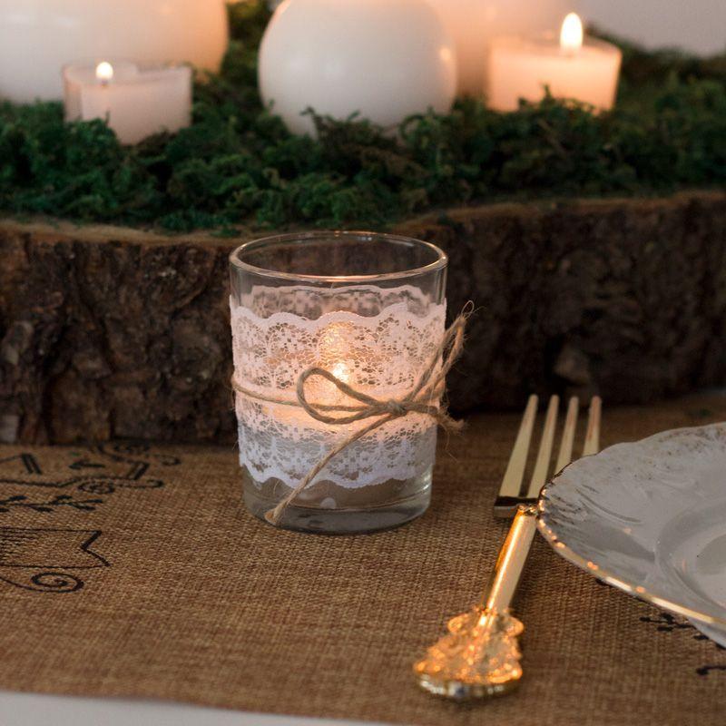 Windlicht Glas Mit Spitze Hier Online Bestellen Windlicht Glas Glaser Dekorieren Hochzeit Windlicht
