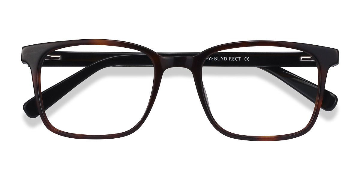 Brown Tortoise rectangle eyeglasses available in variety of colors to match any outfit. These stylish full-rim, large sized acetate eyeglasses include free single-vision prescription lenses, a case and a cleaning cloth.
