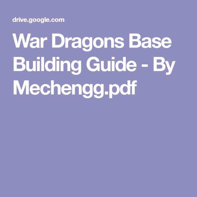 war dragons base building