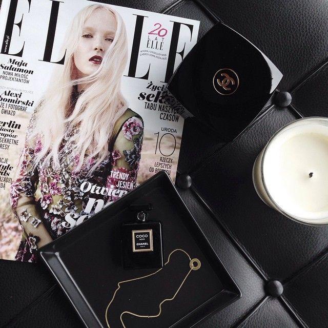 """chanELLE morning #mojeelle #Chanel #coconoir #perfume #bodybalm #newfragrance #elle #moodboard"""