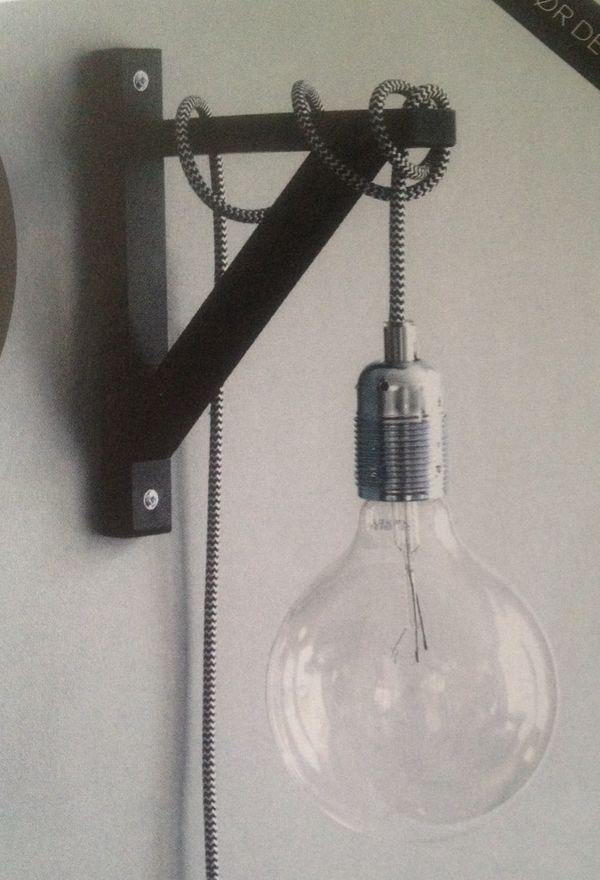 DIY wandlamp | DIY | Interior Delights | Pinterest - Slaapkamer ...