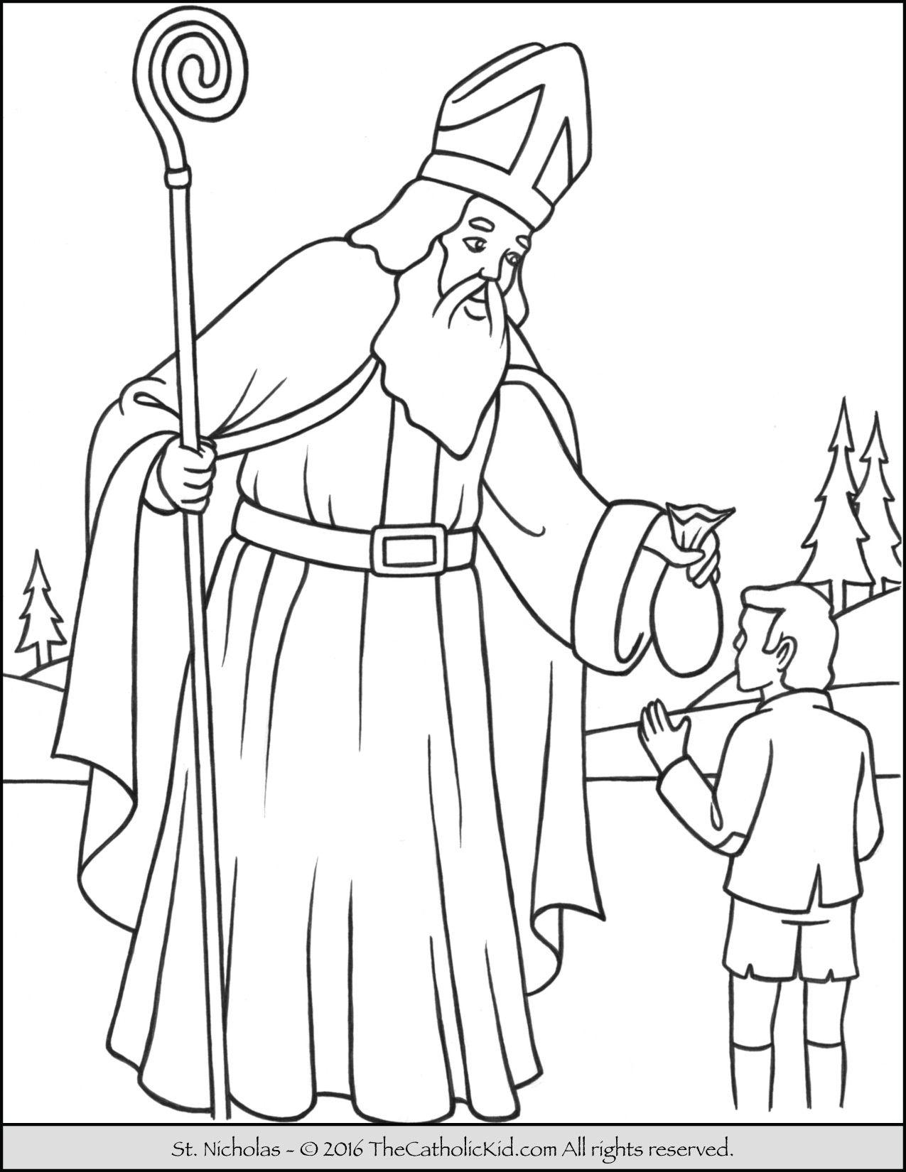 Nikolaus Ausmalbilder Kidsweb : Saint Nicholas Coloring Page Feast Day December 6 Death December