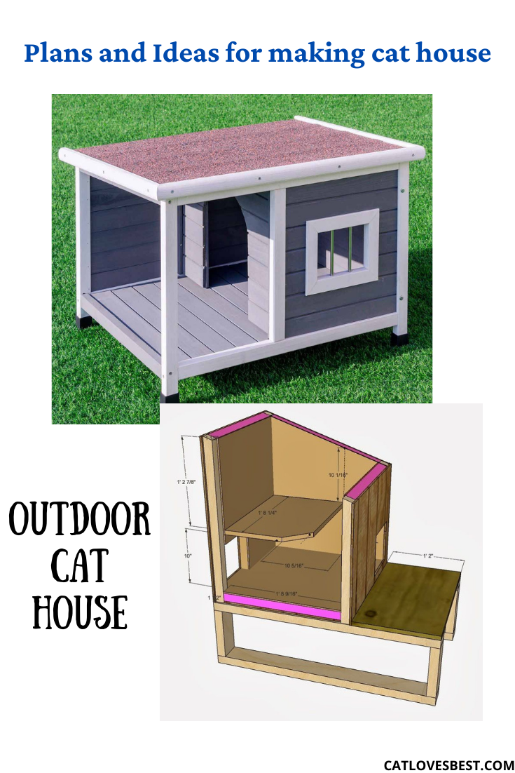 Outdoor Cat House Plans Plans On Making A Cat House In 2021 Outdoor Cat House Cat House Plans Outdoor Cats