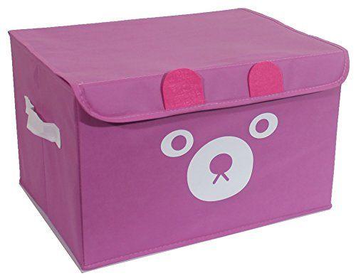 Living Room Toy Storage] Katabird Pink Toy Storage Box Organizer ...