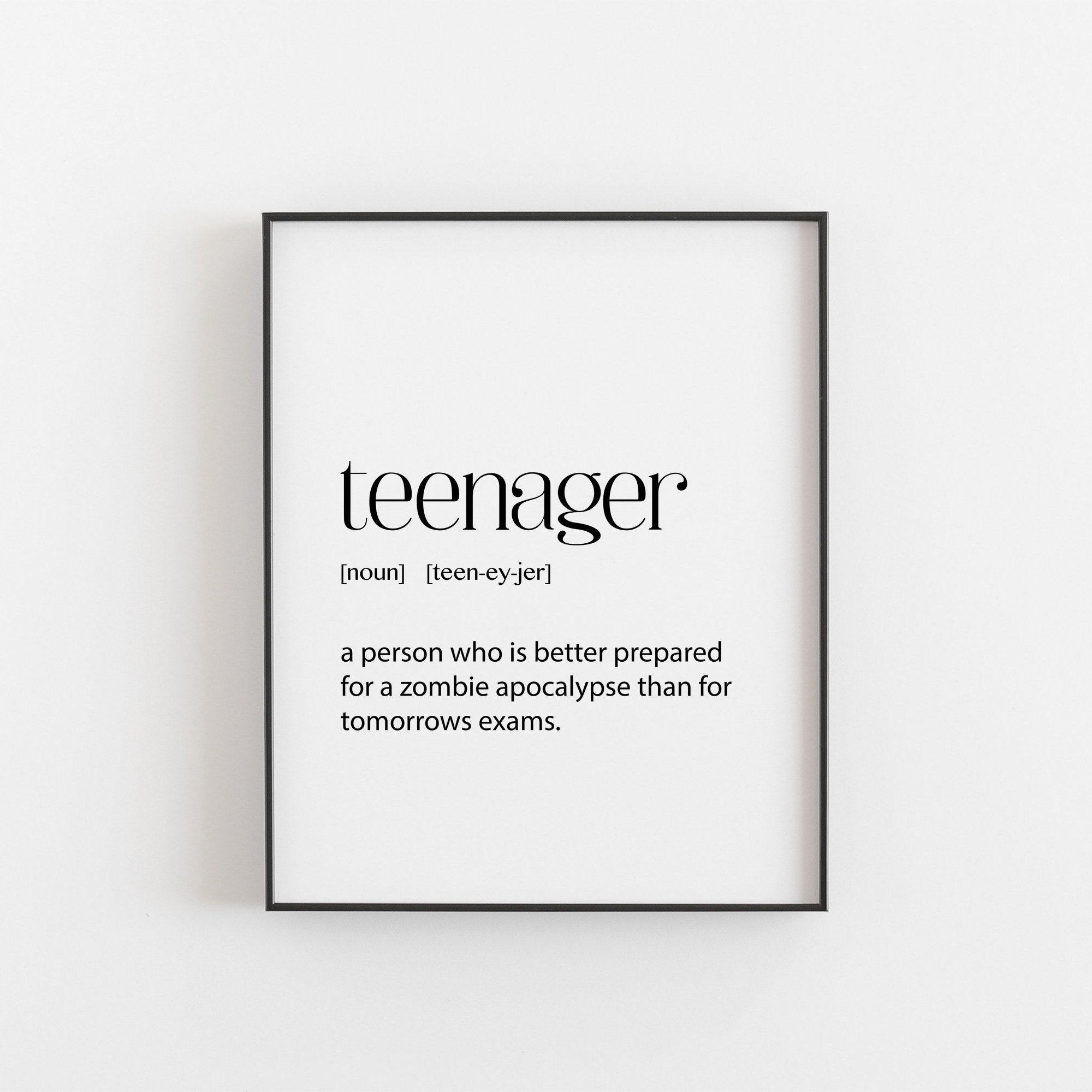 Teen Room Decor, Teenager Definition, Teen Bedroom Decor, Teen Boy Room Decor, Teen Girl Room Decor, Room Decor for Teen Boys, Cool Poster