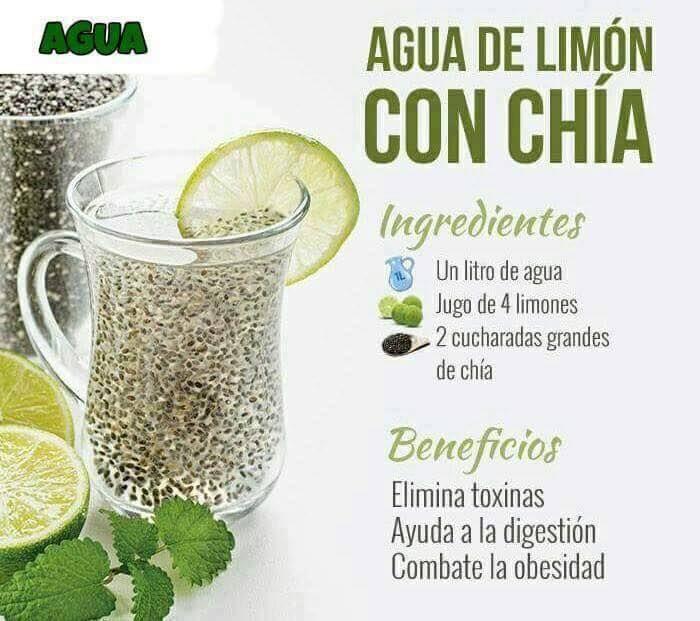 Beneficios De La Chia Que Te Harán Amarla Detox Juice Detox Juice Recipes Healthy Juices