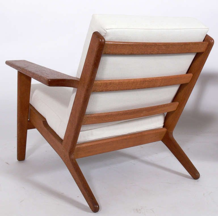 Pair Of Danish Modern Lounge Chairs Designed By Hans Wegner