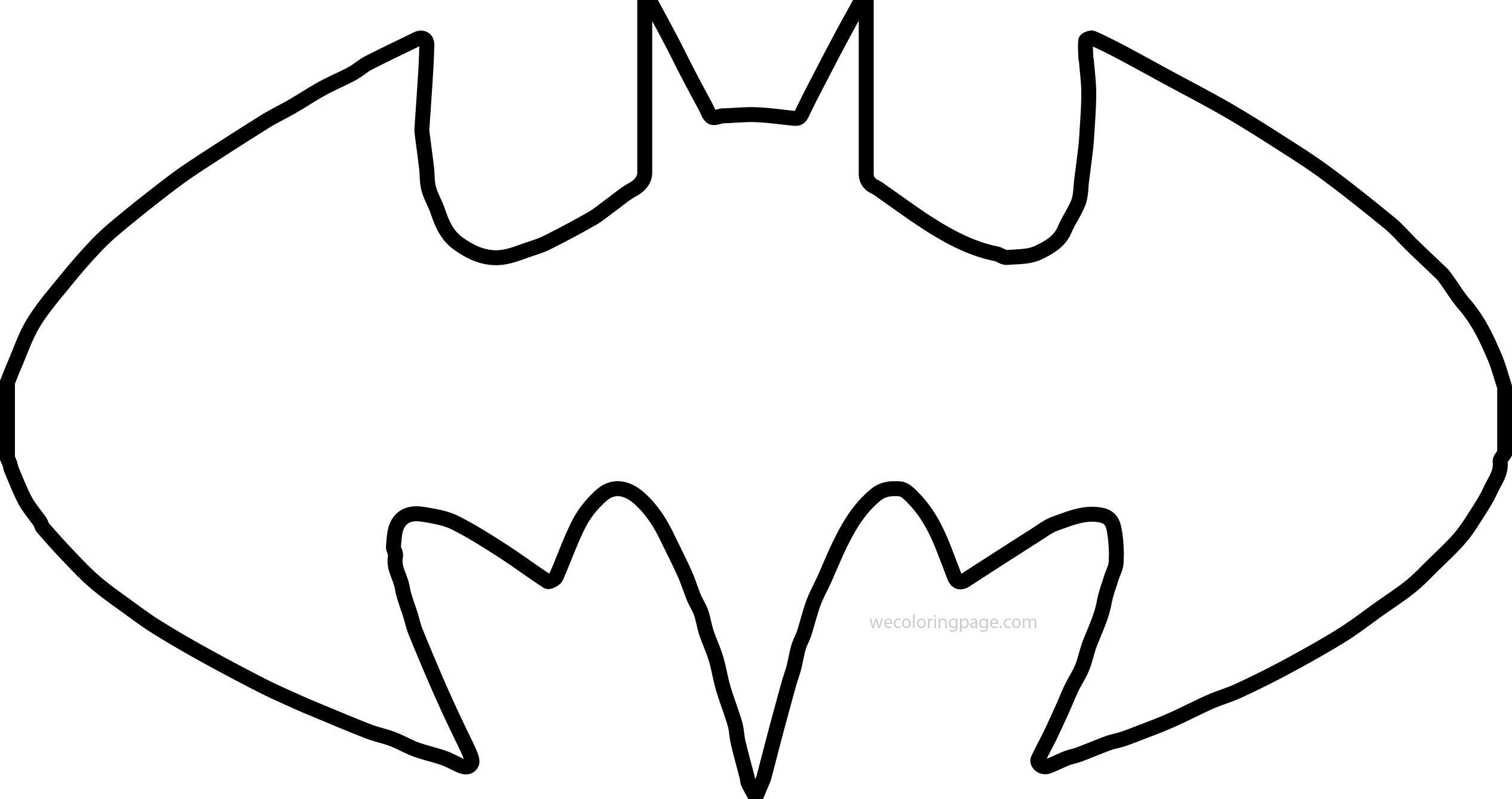 batman outline Batman shape outline coloring page ...
