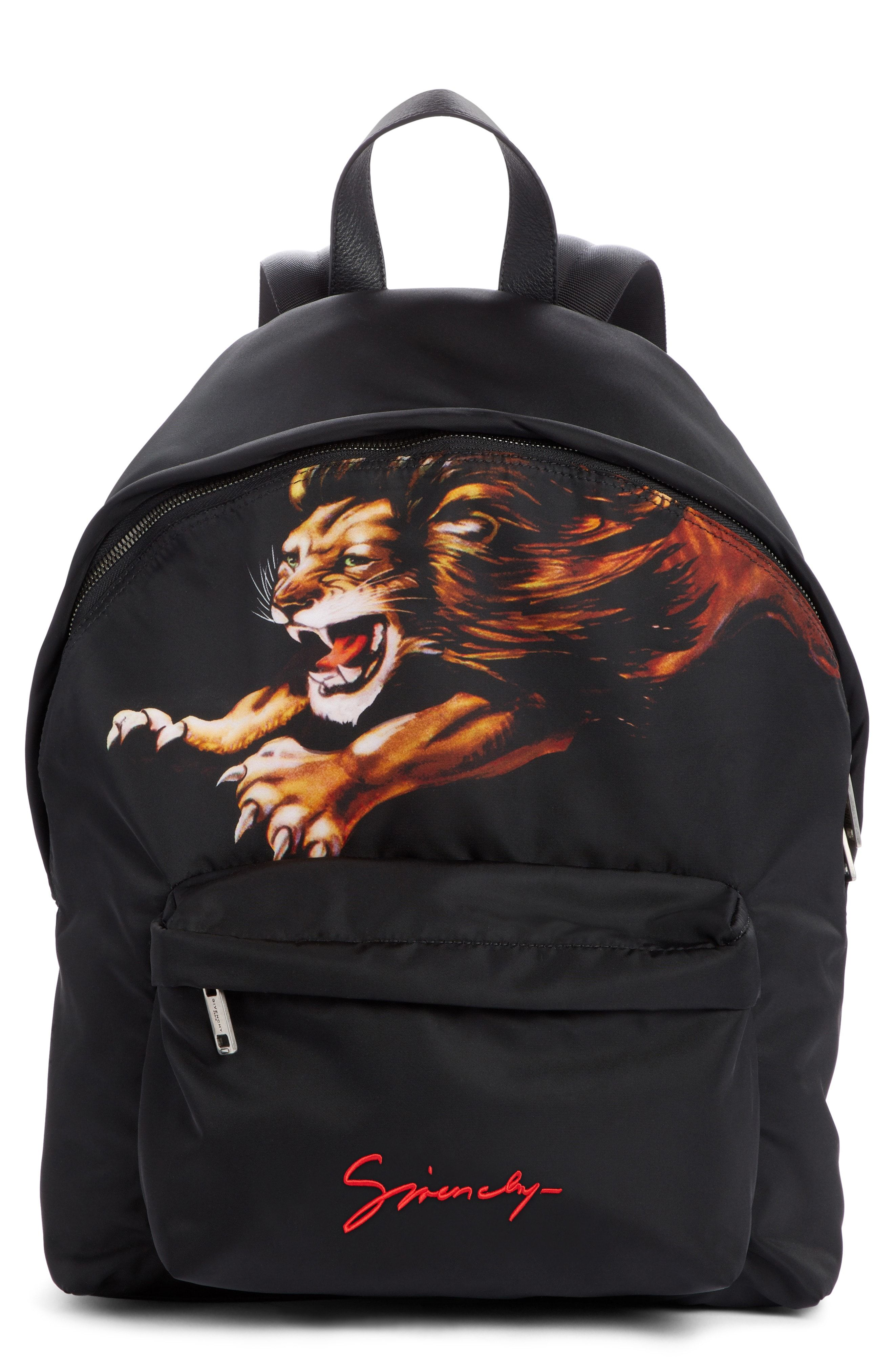 edf9224323 GIVENCHY LION PRINT BACKPACK - BLACK.  givenchy  bags  backpacks ...