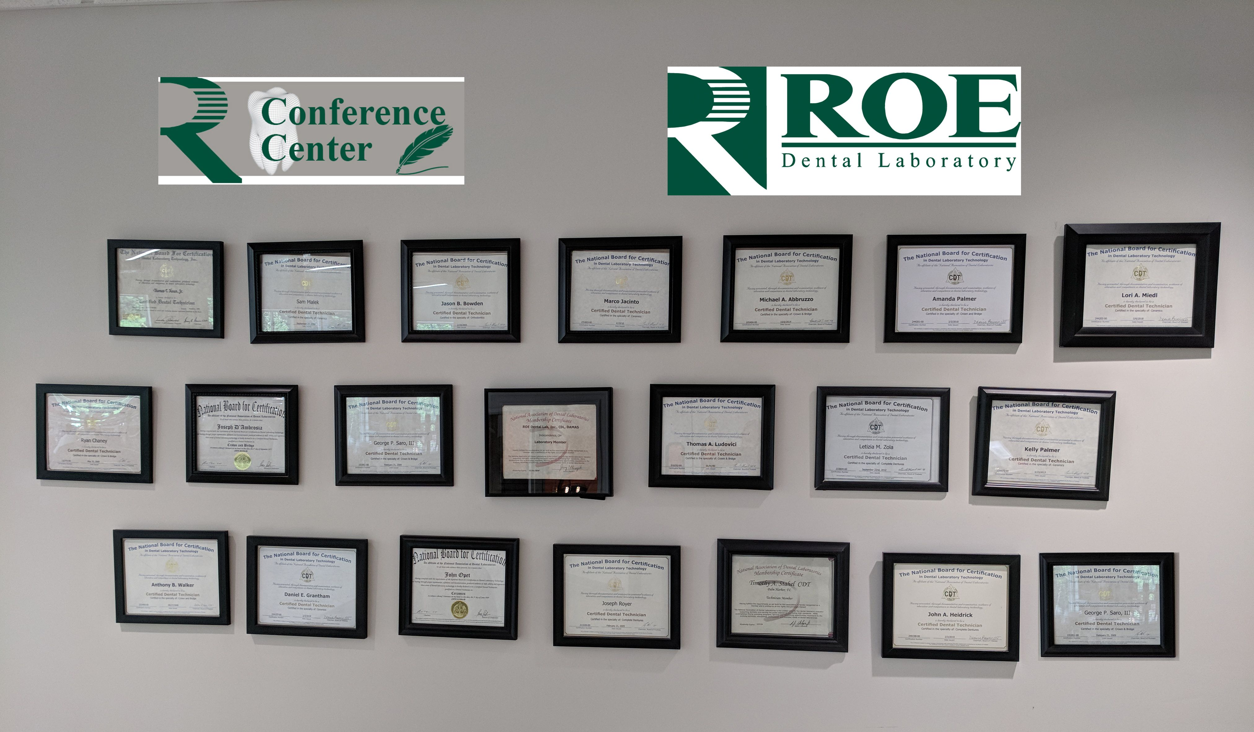 Roe Dental Laboratory Cdt Wall 21 Cdts And Growing Guidedsmile