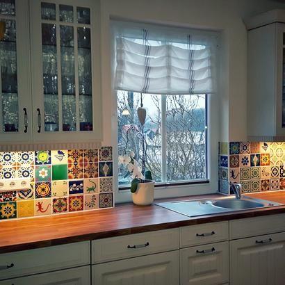 Robuste Küche aus Holz - fliesen für küchenwand
