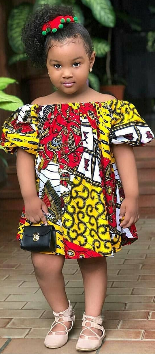 ea49042ebe803 beautiful baby girl in African print dress | African print in 2019 ...