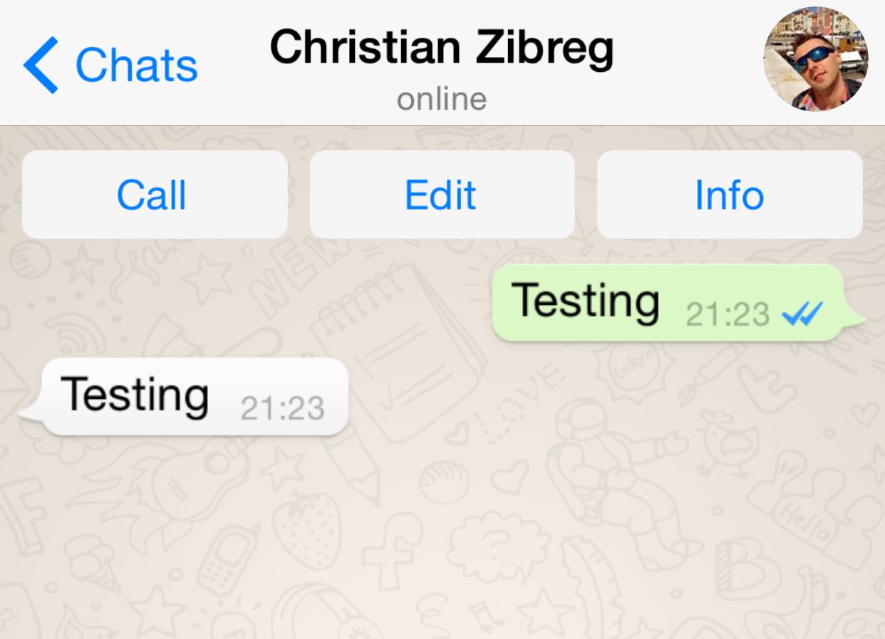 WhatsApp (read receipt 001) Iphone, App, Reading
