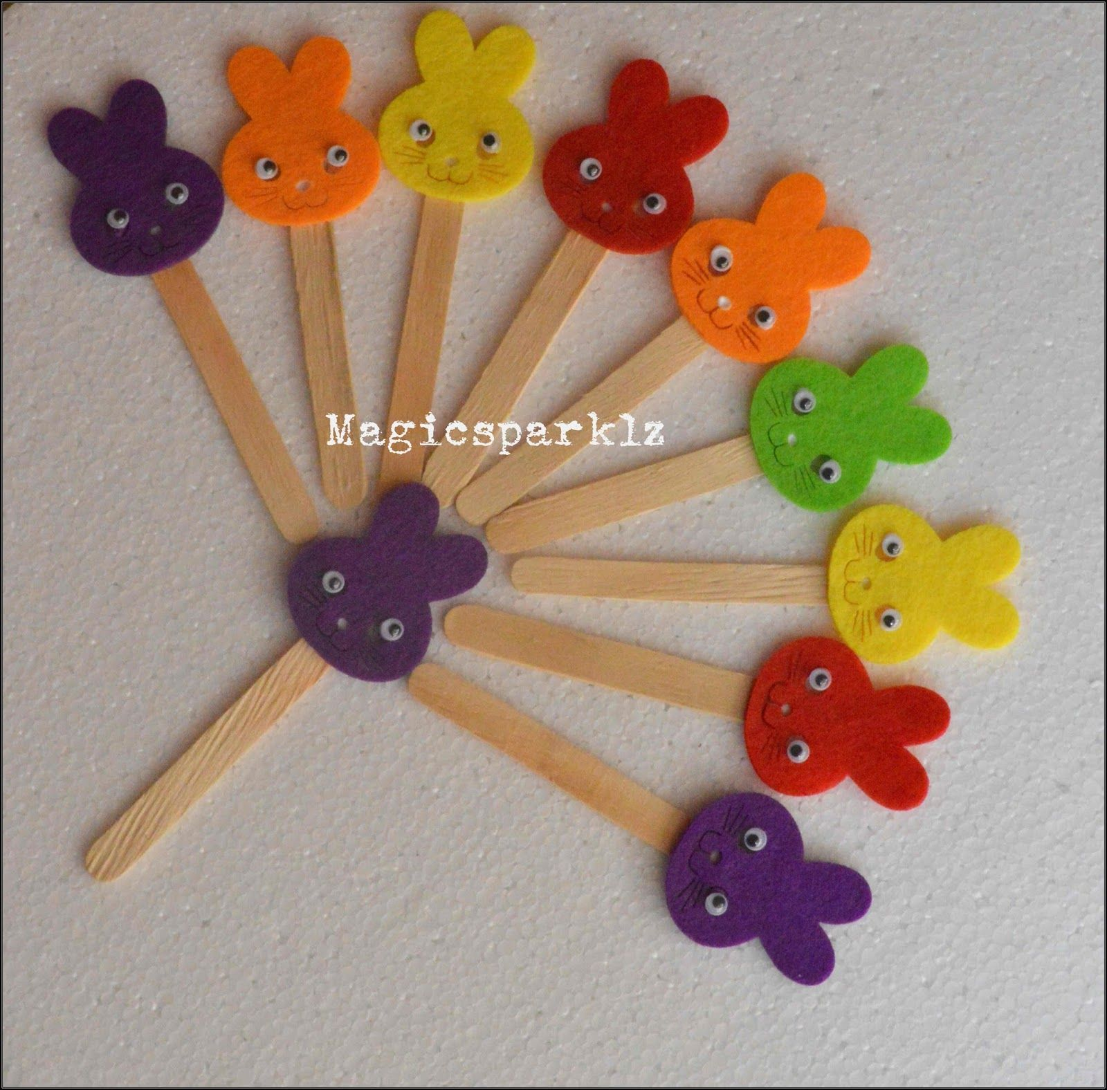 Diy Cute Foam Popsicle Stick Bookmark