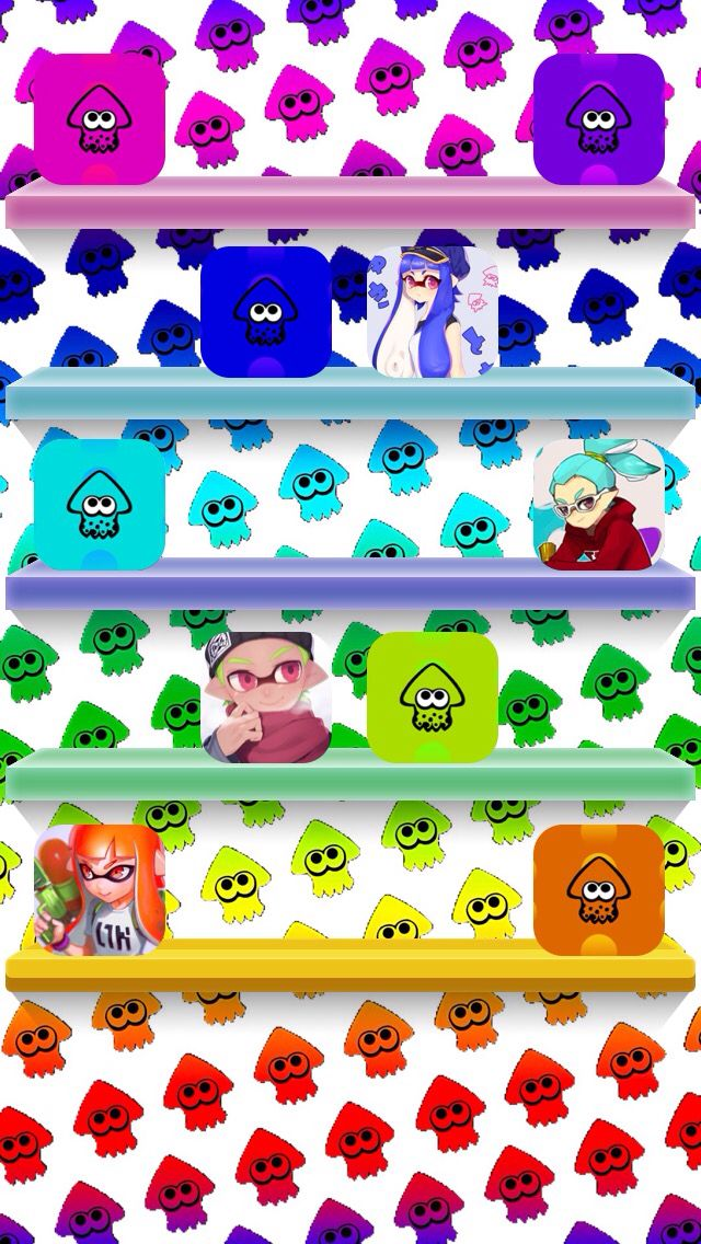 Splatoon home screen | iPhone Themes | Iphone wallpaper, Mobile icon, Wallpaper