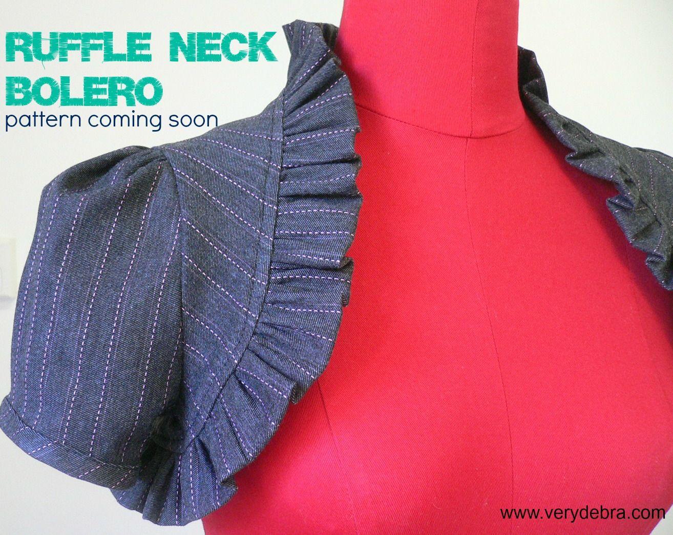 It's ready!  Bolero PDF pattern for girls 6 - 16  verydebra.com