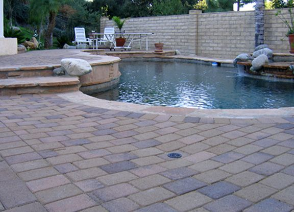 Concrete cantilever coping and pavers google search - Installing pavers around swimming pool ...