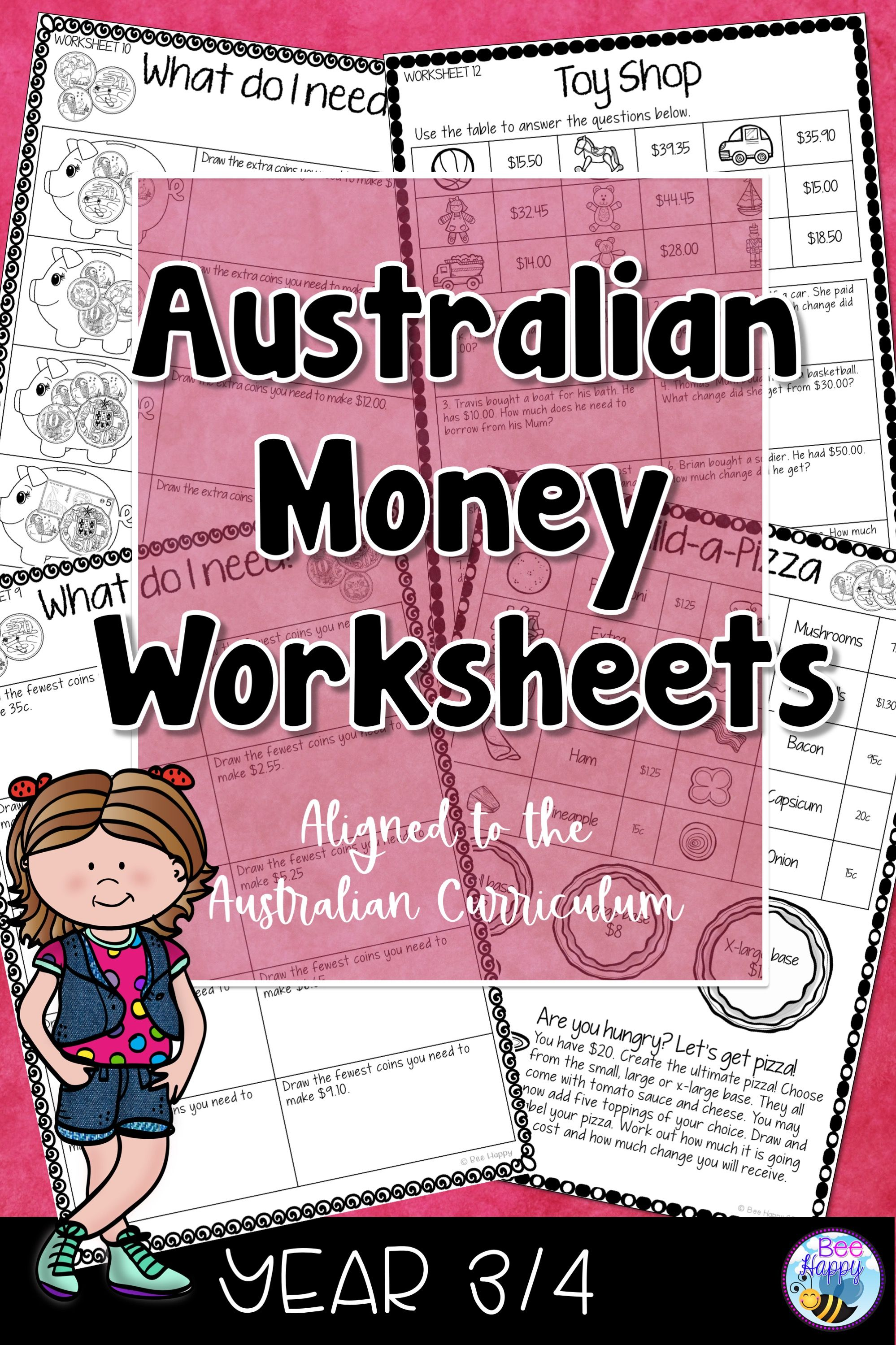 Australian Money Worksheets Year 3 4 In