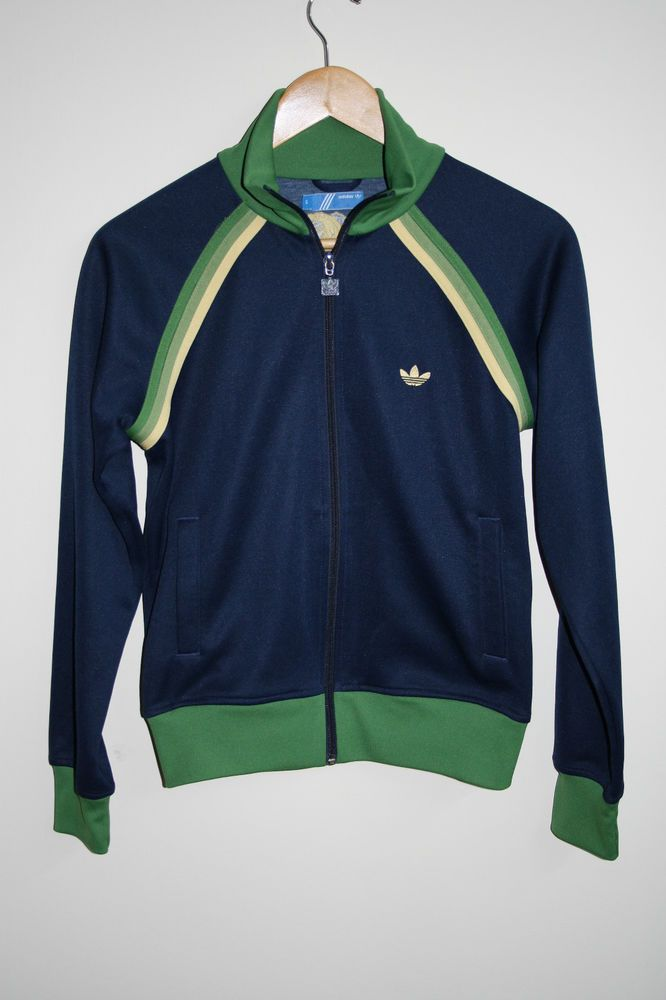7ae2866a559b Vintage Woman Tracksuit Adidas Zip Blazer Jumper Size M Polyester Blue  Jamaica