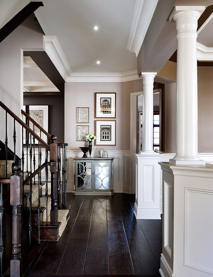 Foyer Hallway Xiii : Beautiful foyer decor inspiration love the white with dark