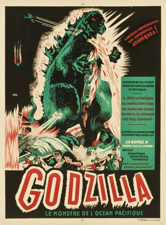 Vintage Godzilla French Release Movie Poster//// Classic Movie Poster////Movie Poste