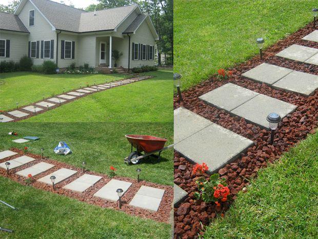 I vialetti fai da te per il giardino questo lo riciclo - Vialetti da giardino ...
