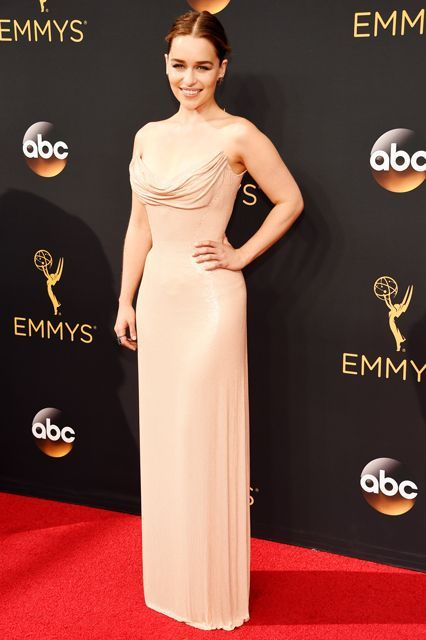 0c53ef5b4fd Emilia Clarke Found The Ultimate Naked Dress For The Emmys
