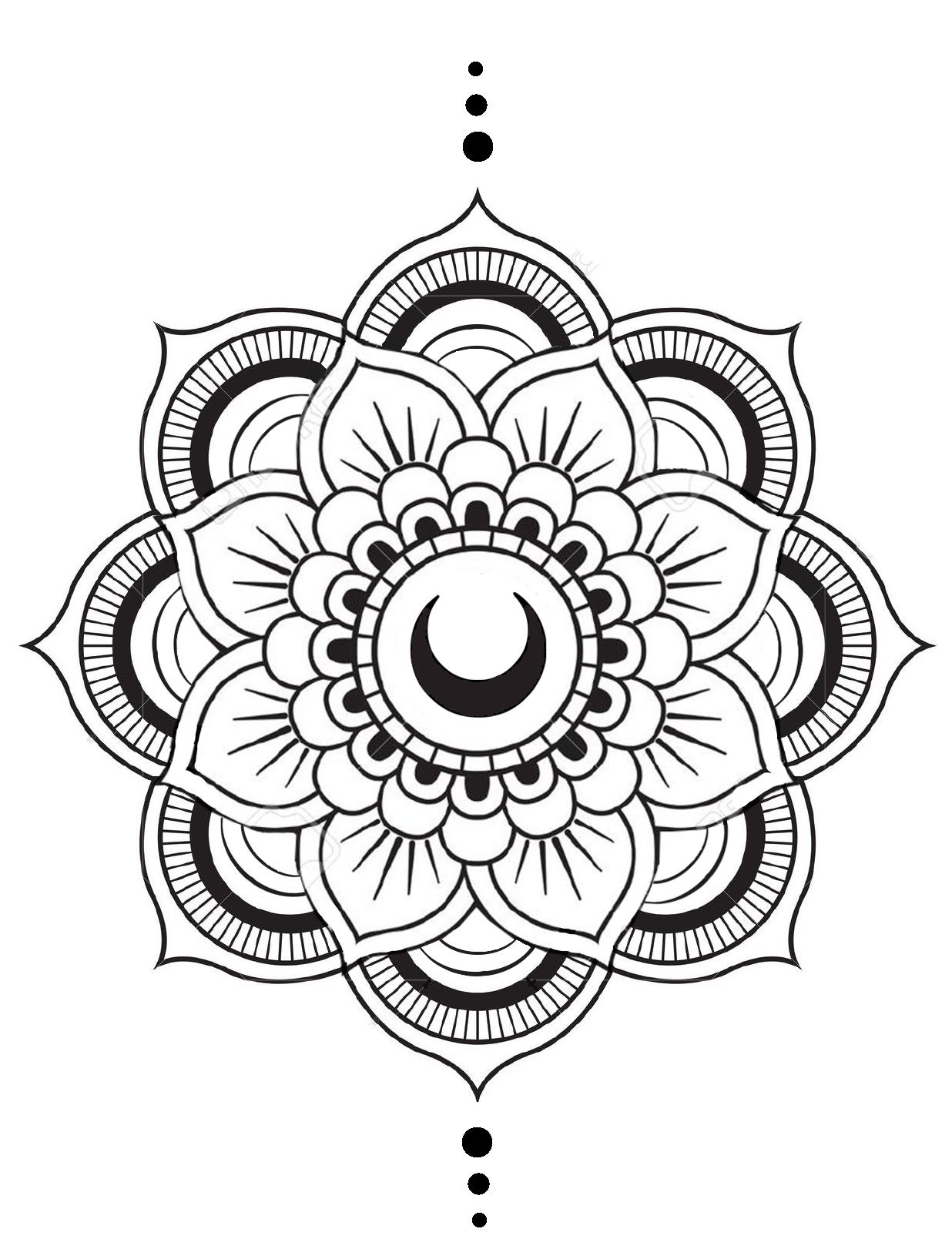 Proximo Tattoo Con Mi Mejor Amiga Mandala Moon Tattoo Bff